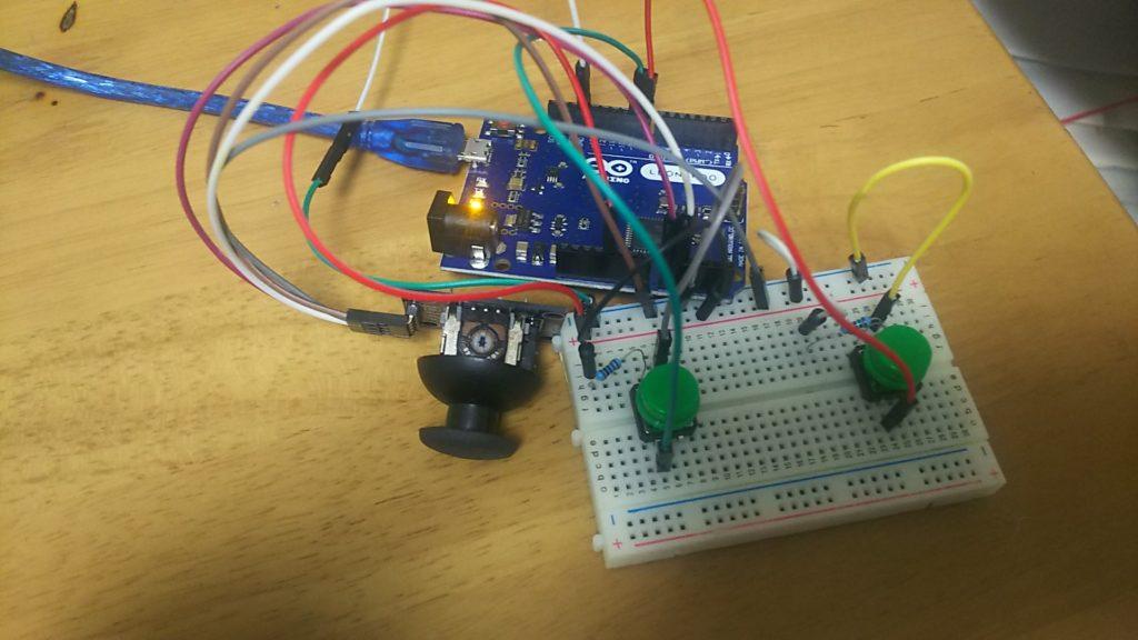 ジョイスティックとタクトスイッチでマウスを作る